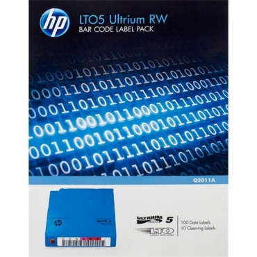 HP Adatkazetta cimke csomag LTO5 RW BAR CODE / 110 DB