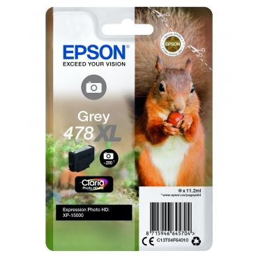 Epson T04F6 Patron Grey 11,2ml 478Xl (Eredeti)
