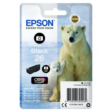 Epson T2611 Patron Photo Black 4,7ml 26 (Eredeti)