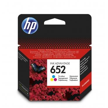 HP F6V24AE Patron Tri-Color No.652 (Eredeti)